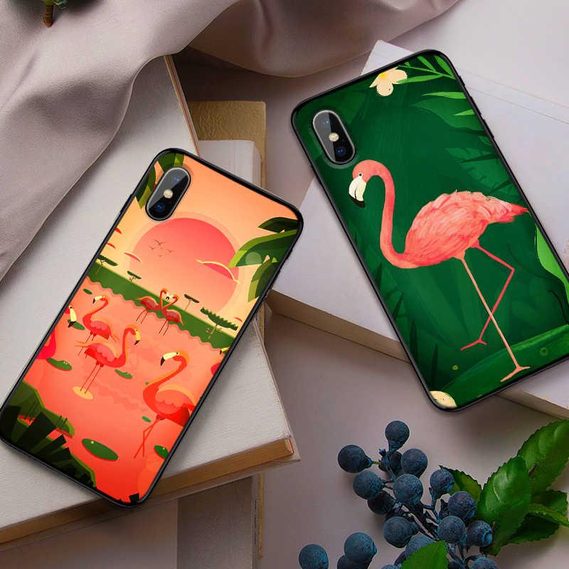 Tropical flamingos สำหรับ Samsung NOTE 8 9 M10 M20 M30 S7 Edge S8 S9 S10 PLUS TPU นุ่มกลับกรณีเปลือก