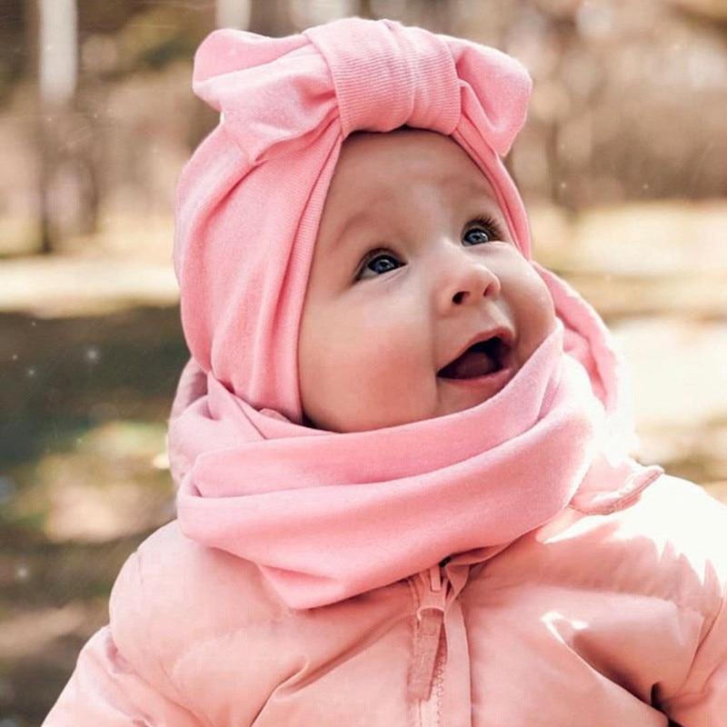 2 шт., детская зимняя шапка из хлопка