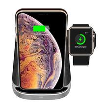 3 IN 1 QI Fast Charging Qi Wireless Charger For iPhone Samung Wireless Charging Mount Dock Stand Holder For Apple Watch Airpod(China)