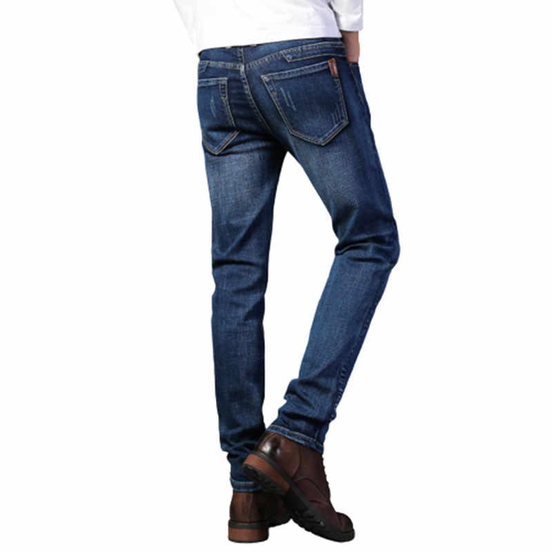 2020 Mens Jeans Moda Denim Pantalones Hombres Clasico Vaquero Informal De Hombre De Talla Grande Denim Pantalones Vaqueros Rasgados Para Hombres 28 40 Pantalones Vaqueros Aliexpress