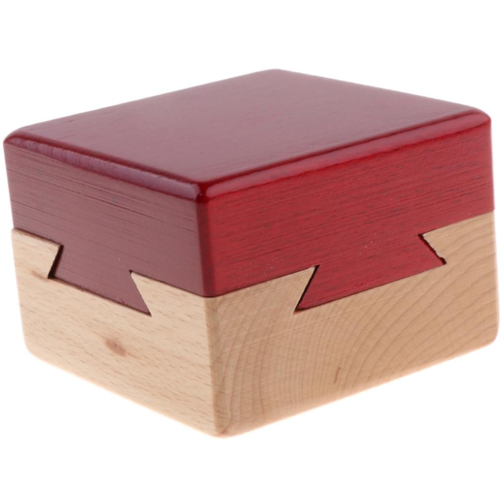 Magie Holz Puzzle Lock-Puzzle Box Geheimnis Holz Box Pädagogisches Spielzeug IQ Training Geschenk für Kinder