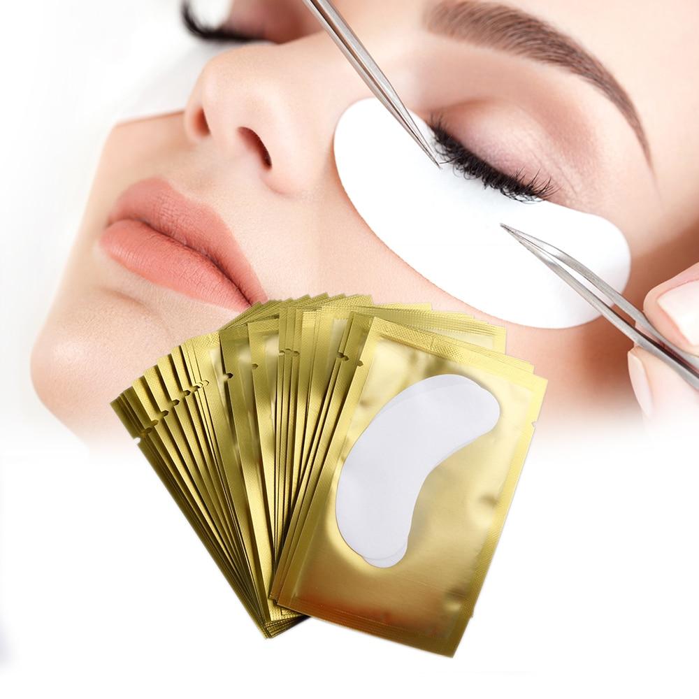500 Pairs Eyelash Extension Paper Patches Eyelash Under Eye Pads Eye Lashes Tips Sticker Wraps Grafted Eye Stickers Makeup Tools