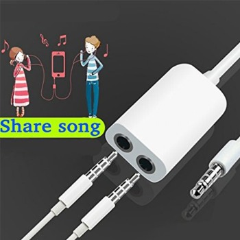 Universal 3.5mm 1 Male to 2 Dual Female Jack Audio Headphone Splitter Cable For iPhone cabo auxiliar fil auxiliaire pour music image