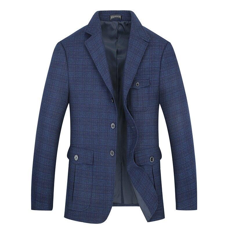 Plus SIZE 8XL 7XL  Hot Sale Mens Korean Slim Fit Arrival Cotton Blazer Suit Jacket Blue Plus Size Male Blazers Mens Coat Wedding