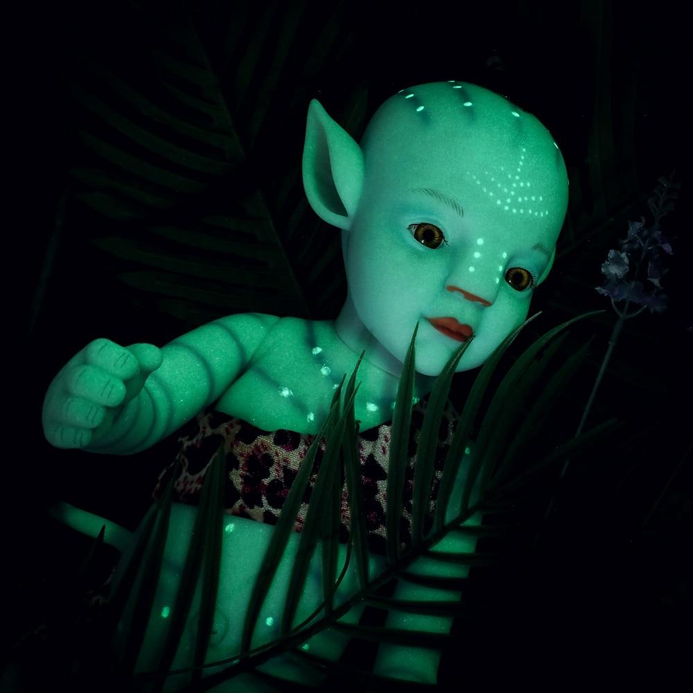 50cm reborn boneca de bebê 20 polegadas corpo macio cheio do bebê menino como vivo bebe recém nascido boneca olhos abertos vai brilhar boneca bonecas natal
