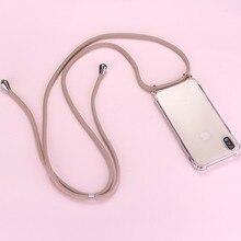 Стильное ожерелье с ремешком для сотового телефона, чехол с ремешком для переноски, подвесной, для Xiaomi Mi 8 9 9T SE 10 A1 A2 A3 Lite Note10 Pro