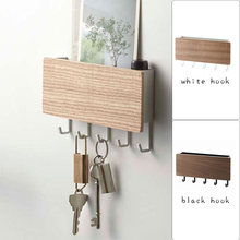 Porta pendurado gancho de madeira decorativo prateleira de parede diversos caixa armazenamento prateleira cabide organizador chave rack multifuncional titular