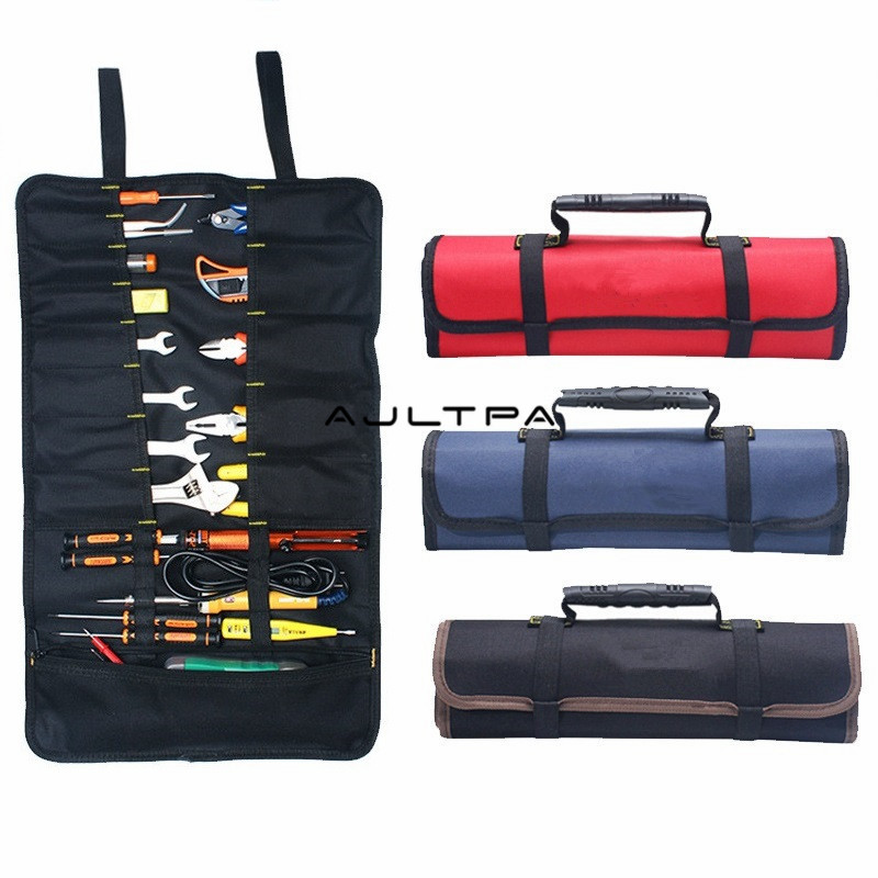 30Pcs Thickening Waterproof Durable Folding Wrench Bags Roll Storage Pouch Organizer Holder Tool Bag Case