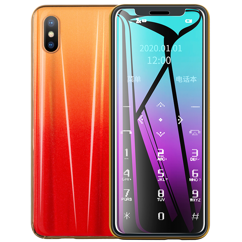 New R11 Mini Card Mobile Phone Portable Ultra-thin Small Cellphone No Network Student Quit Internet Addiction Backup Phones