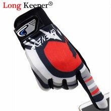Длинные перчатки для мужчин, перчатки с сенсорным экраном, высококачественные перчатки для велоспорта, мужские Нескользящие перчатки для катания на велосипеде, Luvas Guantes Ciclismo
