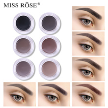 все цены на Miss Rose Brand Eyebrow Enhancer Gel Cream Waterproof Eye Brow Natural Makeup Pigment 6 Colors Long Lasting Women Cosmetics