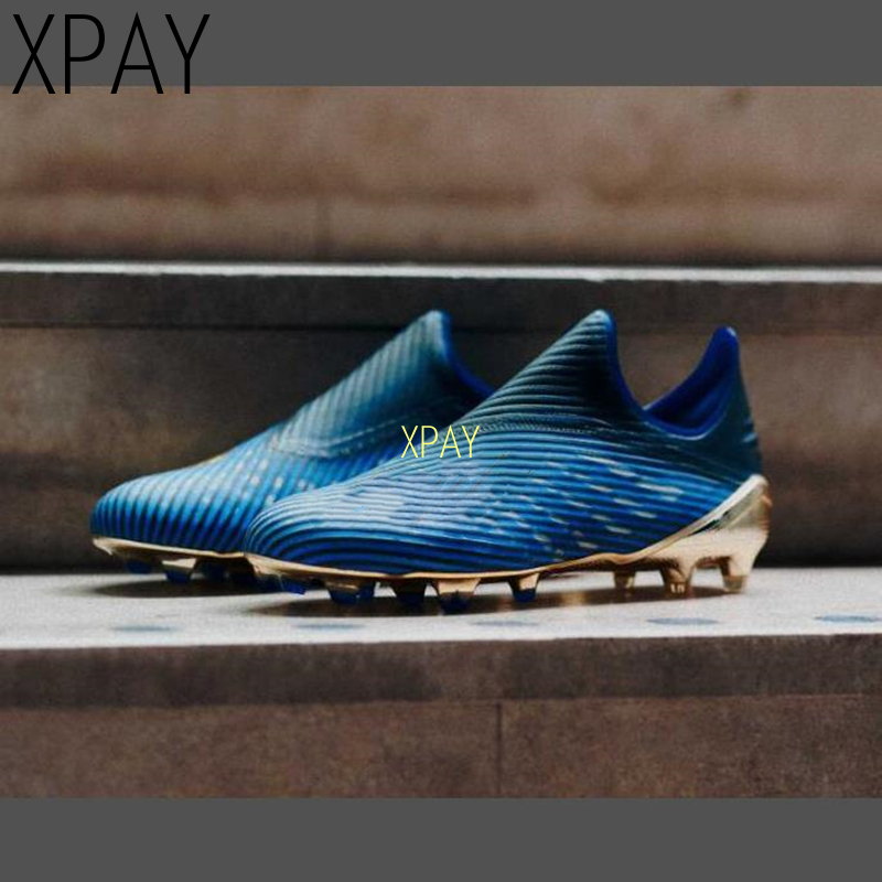 Men Football Soccer Boots Athletic Soccer Shoes 2020 Leather Big Size High Top Soccer Cleats Training Football Sneaker