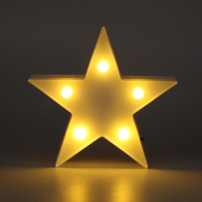 Star Shaped LED Night Light Table Lamp Bedside Lamps Club Baby Children's Room Decoration Cute Kids Gift Toy
