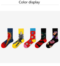 2019New long tube couple socks original personality cartoon creative fashion funny cotton colorful colors