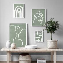 Абстрактные линии рисунки Декор для дома искусство на стене
