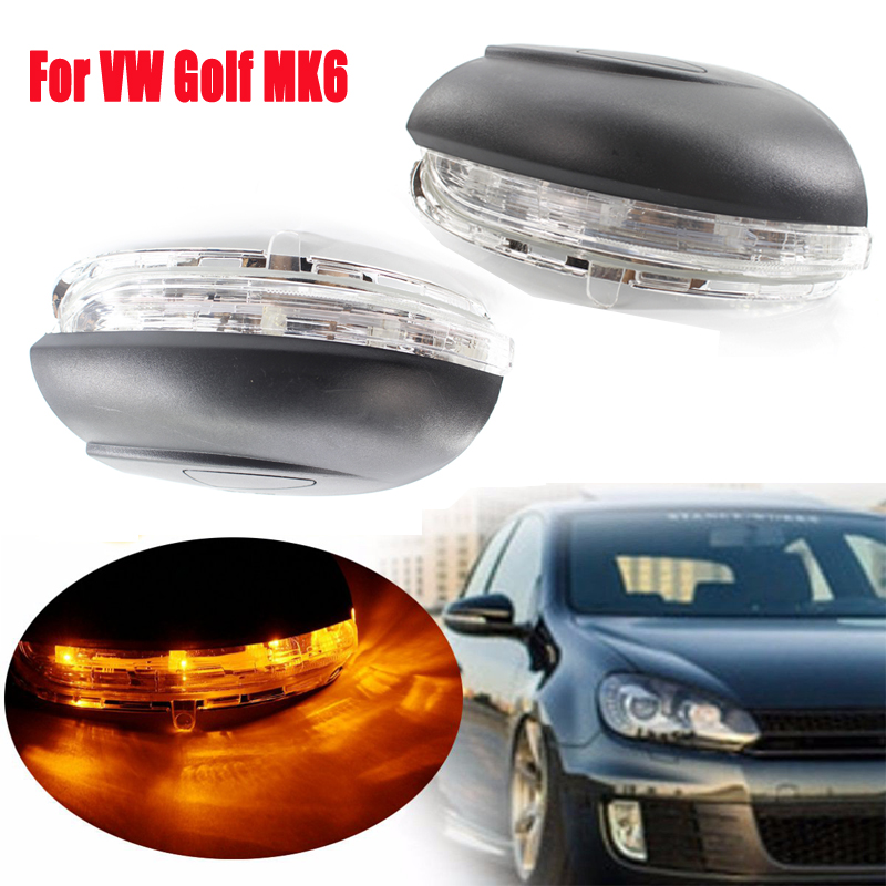 Car Accessories Car Indicator Side Light Lamp Car Rear Mirror LED Turn Signal For VW Golf 6 MK6 2009 2010 2011 2012 2013