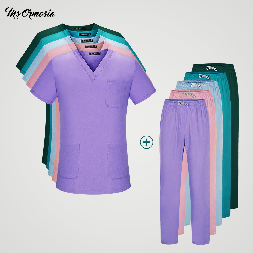 Medical Doctor Sets Pet Hospital Nurse Short-sleeved Uniform Suits Dental Clinic Beauty Salon Workwear Surgical Overalls Clothes