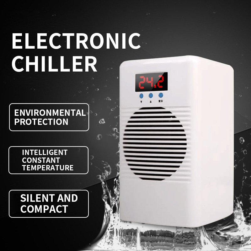 Electronic Water Chiller Home Chiller Mini Fish Tank Cooling Refrigerator Aquarium Cooling And Heating Mute Ice Water Machine