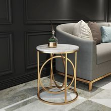 Мебель в скандинавском стиле, мраморный журнальный столик для гостиной, креативный Железный диван, Модный маленький столик