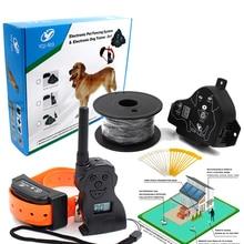 Электроизгородь для домашних собак с вибрационным звуком и пультом дистанционного управления для маленьких и больших собак, система фехто...