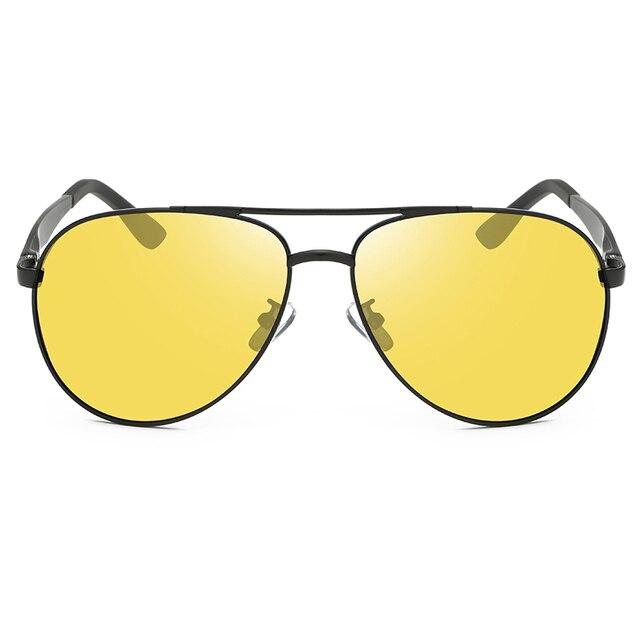 Classic Retro Polarized Night Driving Glasses for Women Men Oversized Anti Glare Night Vision Pilot Sunglasses U400 2