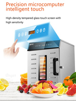 8Layer Commercial Multifunctional Dried Fruit Machine Household Dryer Fruit Tea and Vegetable Food Soluble Bean Air 400W