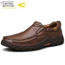 Deve Aktif Yeni Hakiki Deri erkek ayakkabıları Yeni Moda Seti Ayak Yumuşak Inek Derisi Hafif nefes alan günlük ayakkabılar erkek mokasen ayakkabıları