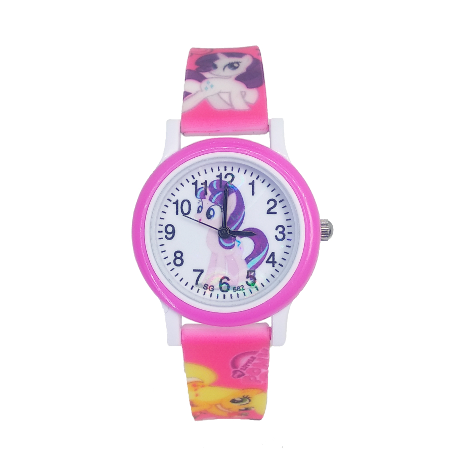 2020 New Horse Design Cartoon Fashion Baby Watch Children Jelly Boy Girl Students Kids Quartz Watches Relogio Kol Saati Clock