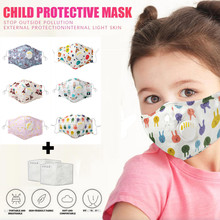 Kids Mask Cover Respirator Masque Halloween Cosplay Reusable Dustproof for Rgb Pollution