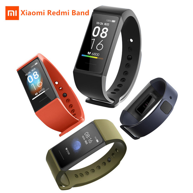 IN stock Newest Xiaomi Redmi Band Smart Wristband Heart Rate Fitness Sport Tracker Bracelet Multiple Face 1.08 Color Touch Scree