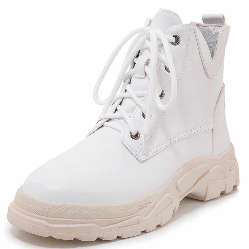 FEDONAS moda klasik kadın yarım çizmeler Punk motosiklet botları sonbahar kış sıcak kar botları artı boyutu yüksek topuklu ayakkabılar kadın
