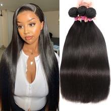 UNICE HAAR Malaysische Gerade Haar Verlängerung 8 30 Inch Natürliche Farbe Menschliches Haar Bundles 100% Remy Haarwebart 1/3/4 stück