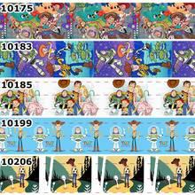 10 ярдов-разные размеры-Новые Мультяшные персонажи Стиль Напечатанные ленты DIY аксессуары