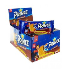 Chocolate filled Prince cookies, box with 20 packs of 80g