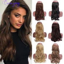 Синтетические длинные накладные волосы queenyang с эффектом
