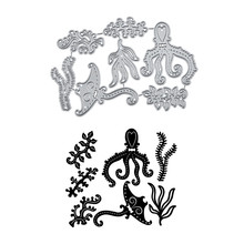 YaMinSanNiO Octopus Dies Sea Life Metal Cutting New 2019 Scrapbooking Album Die Cut Embossing Crafts Stencils Decorations