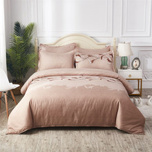 Thumbedding Light Brown Bedding Set Queen Size Classic Soft Elegant Duvet Cover Orchid King Twin Full Single Double Bed Set(China)