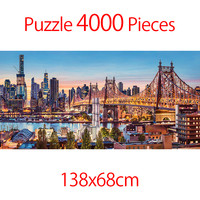 Jigsaw Puzzle 4000 Pieces DIY Educational Puzzle Games Toys Assembling Picture Landscape Puzzles For Adults Children Kids Gifts