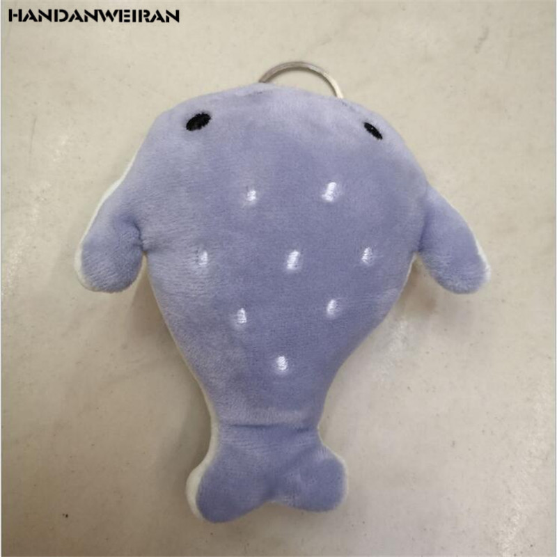 HANDANWEIRAN 1pcs12cm Creative Little Whale Plush Doll Premium pp Cotton Filled Decorative Pendant for Boys and Girls