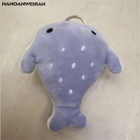 HANDANWEIRAN 1pcs12cm Creative Little Whale Plush Doll Premium pp Cotton Filled Decorative Pendant for Boys and Girls