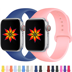 Strap For Apple Watch band 38mm 42mm iWatch 40mm 44mm Accessories Sport wristband Silicone bracelet Apple watch serie 3 4 5 SE 6