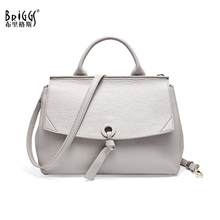 BRIGGS Small Shell Handbag Luxury Handbags Women Bags Designer Quality Genuine Leather Crossbody Bags For Women Shoulder Bag цены онлайн