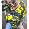 VIEUNSTA 2019 Womens Clothing Plus Size V-neck Print Blouse Shirt Women Long Sleeve Autumn Blusa Casual Loose Streetwear Top 5XL 1