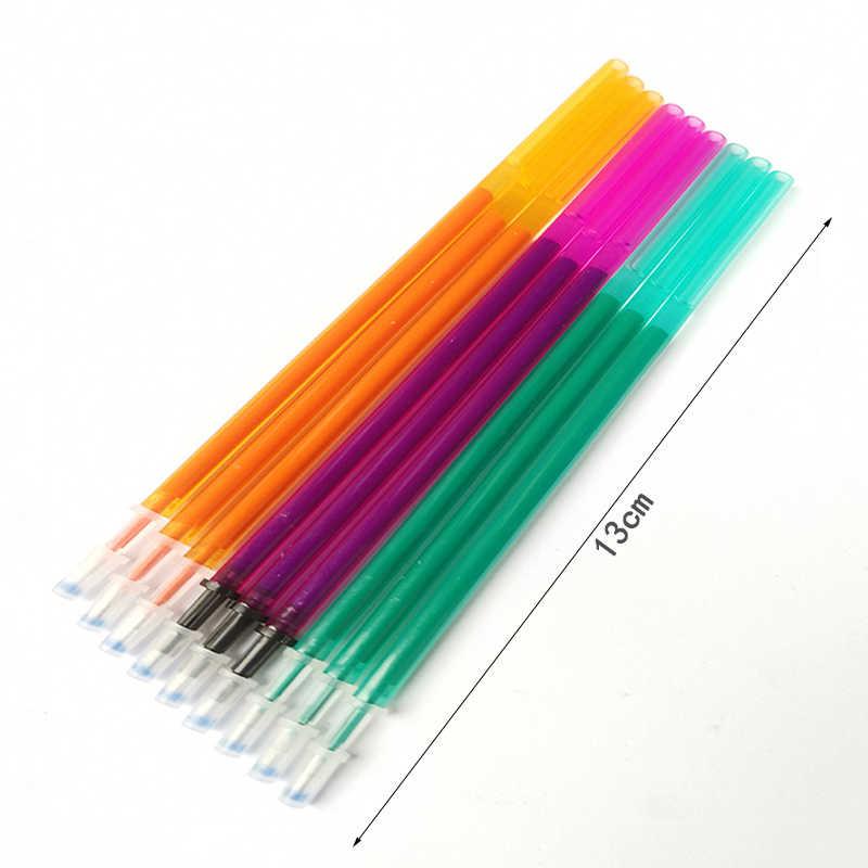 Zmazywalny długopis zestaw 0.5mm niebieski czarny kolorowy atrament pisanie długopisy żelowe wkłady pręty zmywalny uchwyt do szkoły materiały biurowe