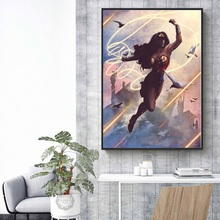 Classic Superheroes DC Comics Batman Flash Superman Wonder Woman Art Painting Silk Canvas Poster Wall Home Decor