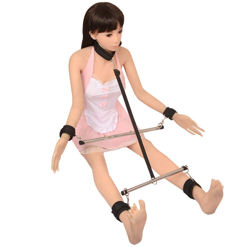 Sex Metal Spreader Bar,Adult Game Bondage Fetish Restraint,Slave Handcuffs Ankle Cuffs Neck Collar,Japanese BDSM Unisex Love Toy