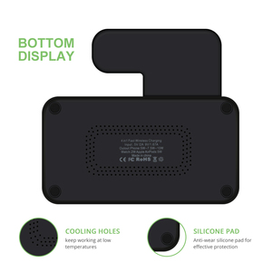 Image 5 - DCAE 4 in 1 kablosuz şarj Dock İstasyonu için Qi şarj standı Apple Watch iWatch için 5 4 3 2 1 airPods iPhone 11 XS XR X 8 Samsung