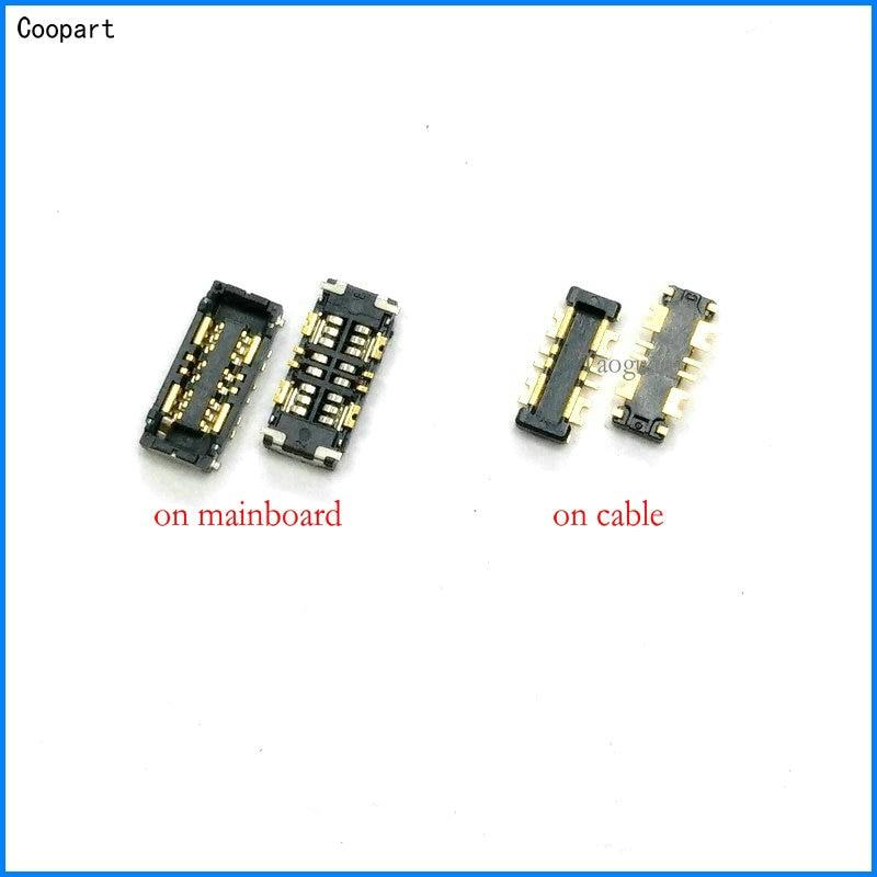 2pcs/lot Coopart Inner FPC Connector Battery Holder Clip Contact For ASUS Zenfone 3 ZE520KL Z017DA  ZE552KL Zenfone3