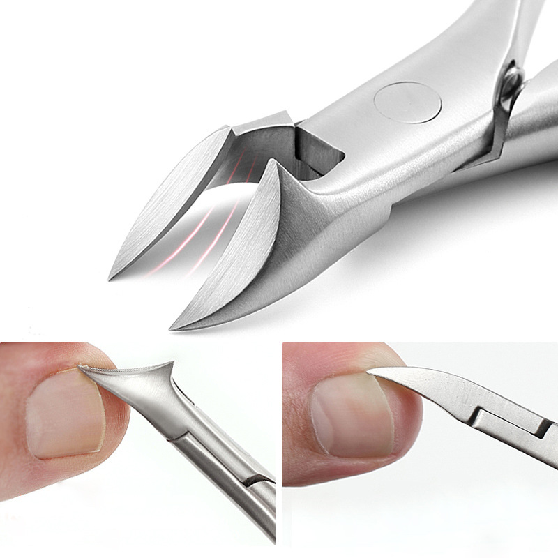 Кусачки для ногтей из нержавеющей стали, триммер, вросший педикюр, уход, профессиональный резак, кусачки, инструменты для ног, ног, паронихия...
