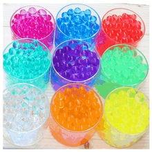 500 pçs magia cristal lama do solo crianças brinquedo contas de água para crianças flores crescendo água hidrogel bolas decoração casa vaso
